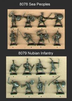 HaT 1.72 scale (20mm) 8078/8079 Ancient Sea Peoples & Nubian Infantry (x 96 fig)